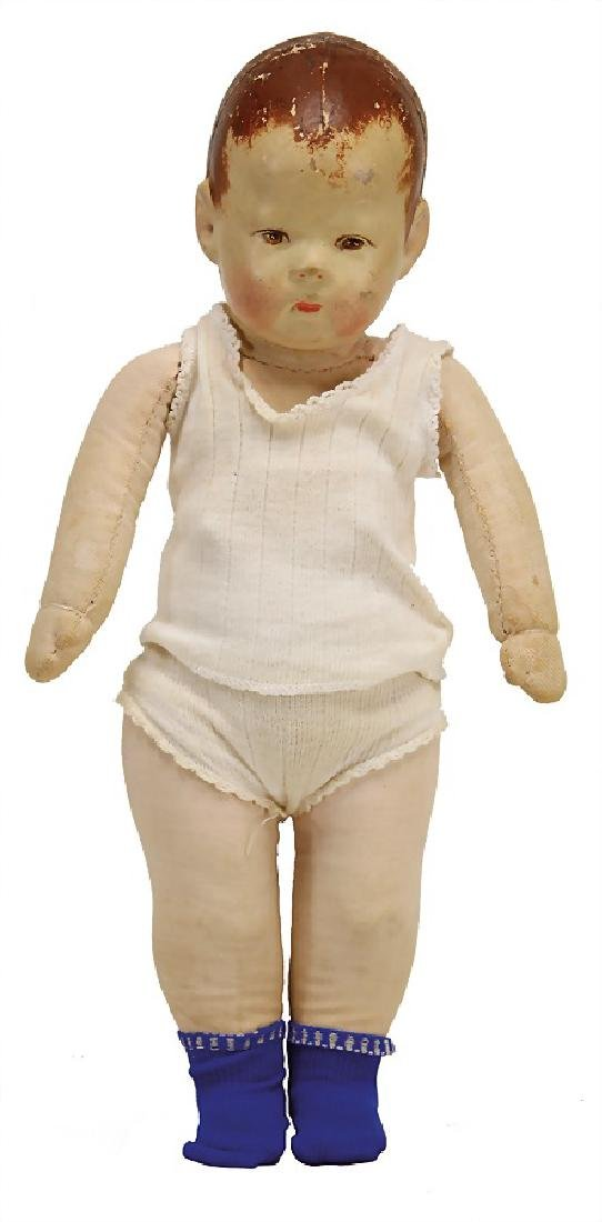 KÄTHE KRUSE small doll No. 1, 36 cm, fabric head,