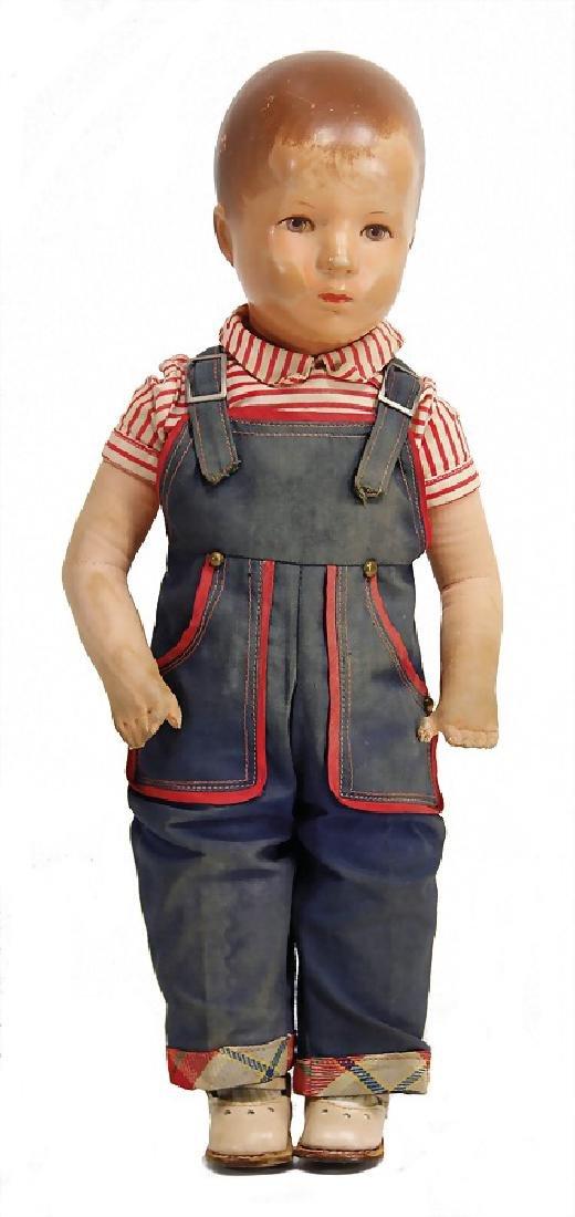 KÄTHE KRUSE boy, 36 cm, plastic head, postwar era,