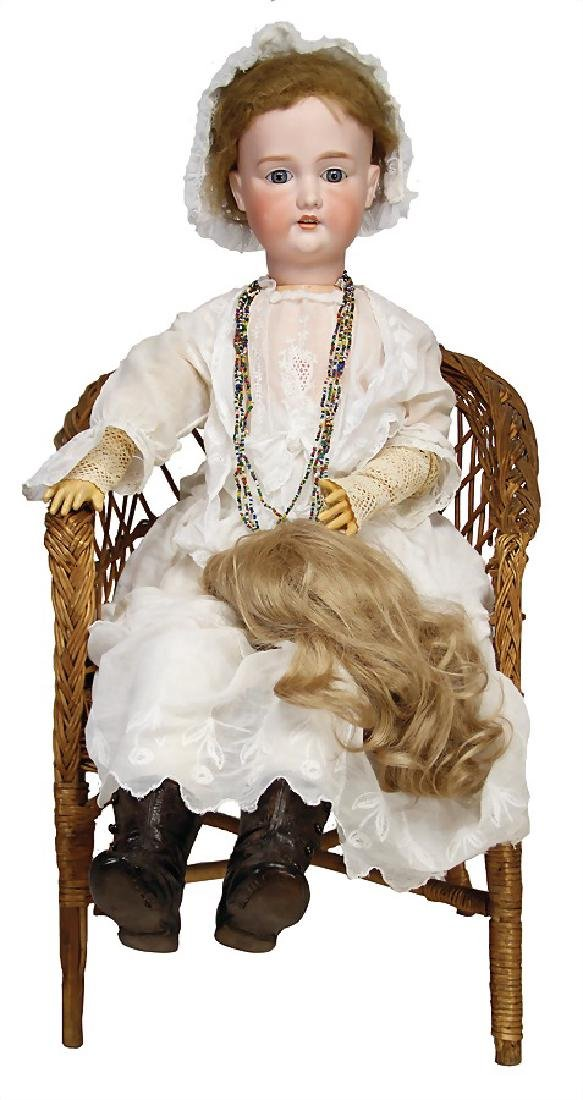 ARMAND MARSEILLES doll with porcelain head, marked 15,