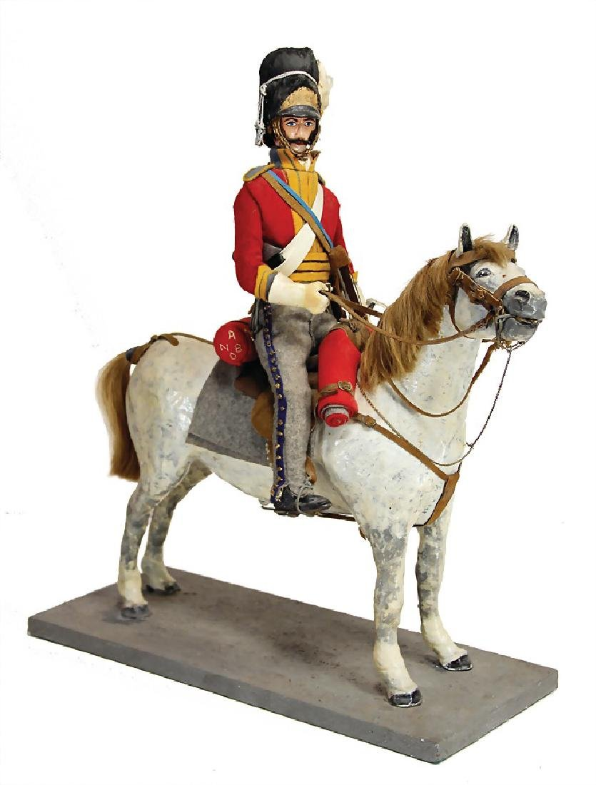 soldier on horseback, mass, 51 cm tall, 1 hand was