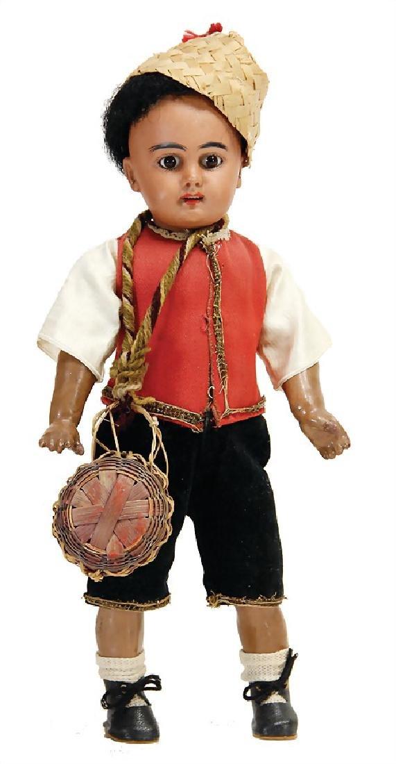 SIMON & HALBIG 939, colored boy, 26 cm, colored