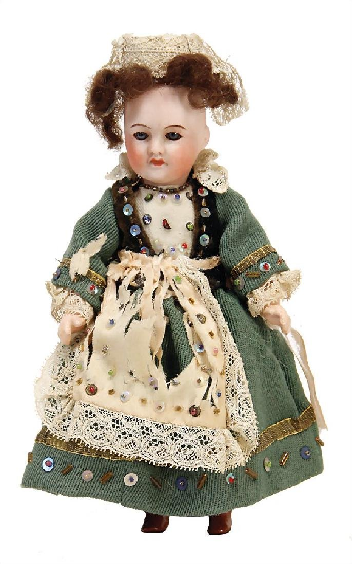 SFBJ small doll with  bisque head, 21 cm, socket head,
