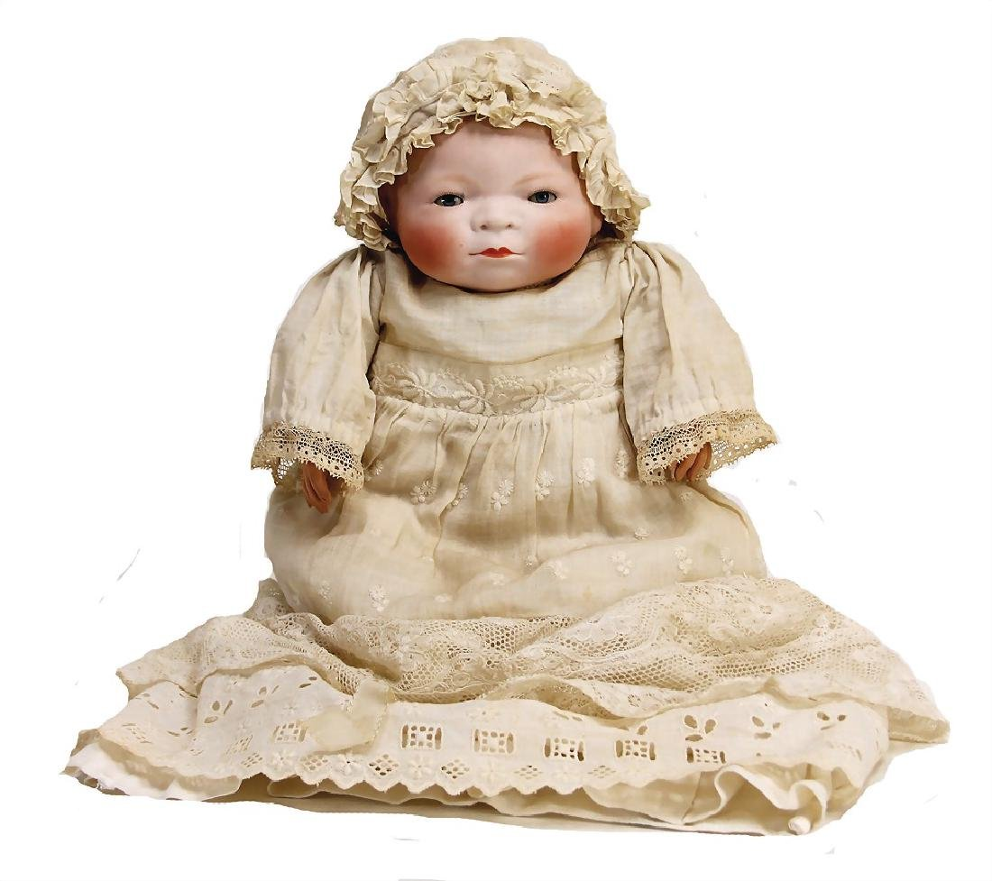 Beylo baby, 32 cm, biscuit porcelain head with flange