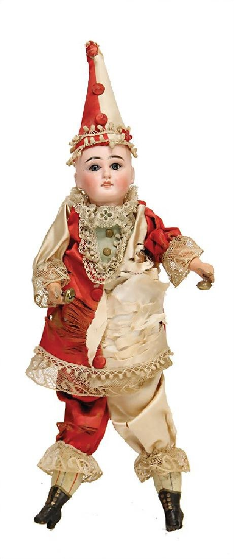 doll with biscuit porcelain head with flange neck, with