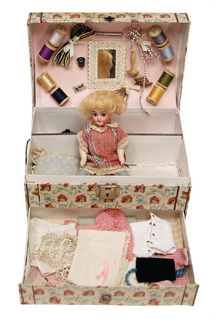 Trousseau, doll with bisque porcelain head, AM, 19 cm,
