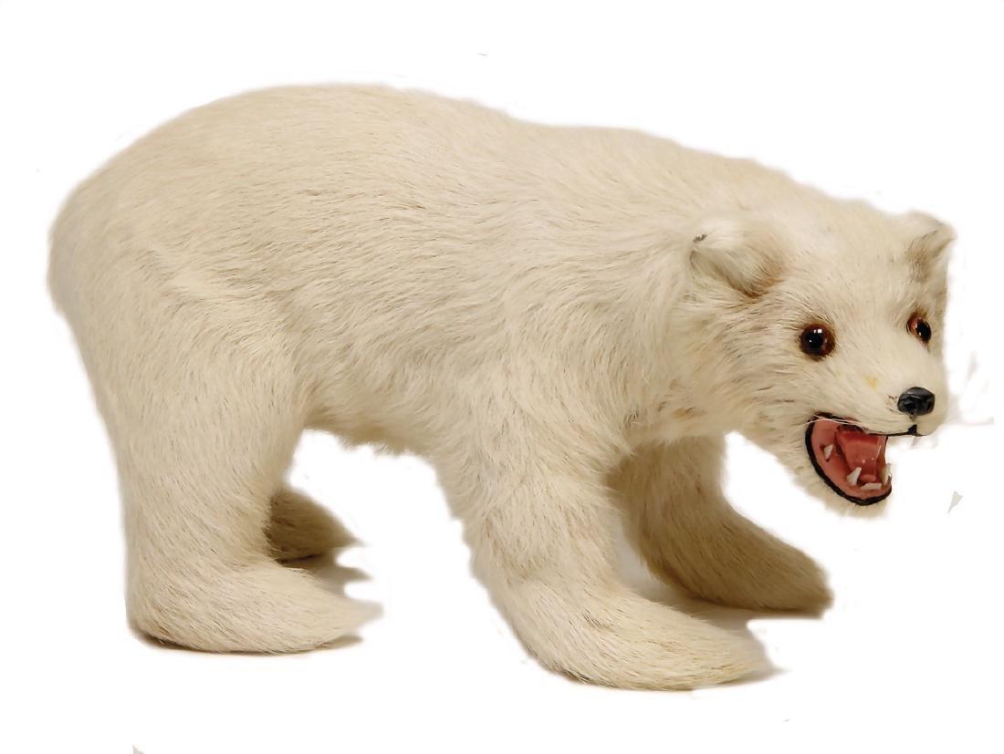 polar bear, skin animal (rabbit fur), 23 cm   German