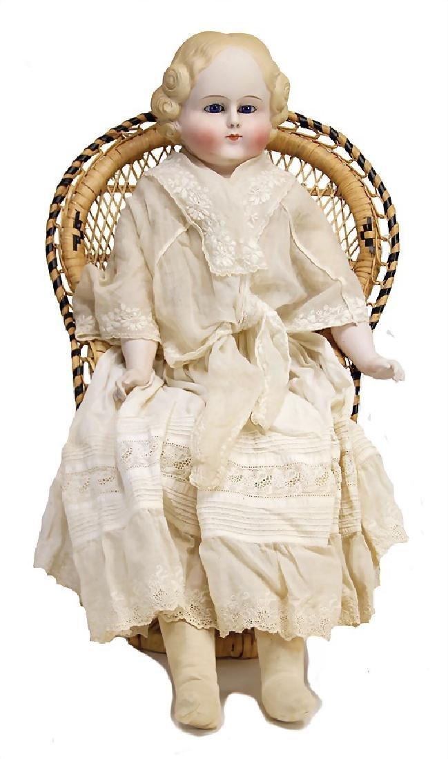PARIAN bisque porcelain-shoulder headed doll, 70 cm,