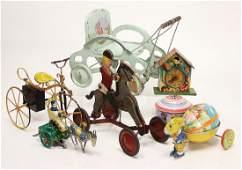 Fundkiste, Blech-Spielzeug, Uhr als Spardose, nicht