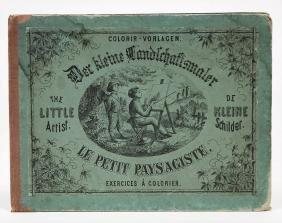 Der kleine Landschaftsmaler, Malbuch, 1 Seite