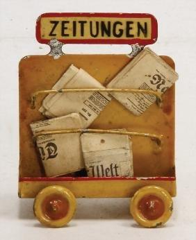 KIBRI Zeitungswagen, altersbed. kl. Farbabplatzer