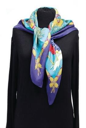 HERMÈS silk scarf, model: 1789 Liberté