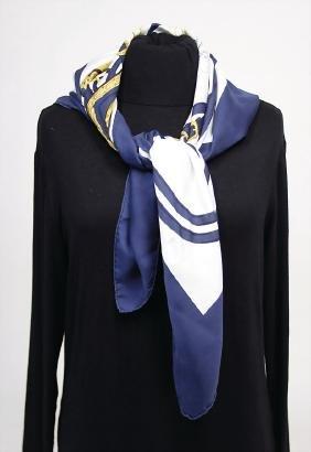 HERMÈS silk scarf, model: Brides de Gala par