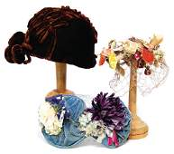 mixed lot of decoration for ladies' heads, c.