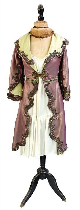 ladies' dress on a tailor`s dummy, coat-like dress with