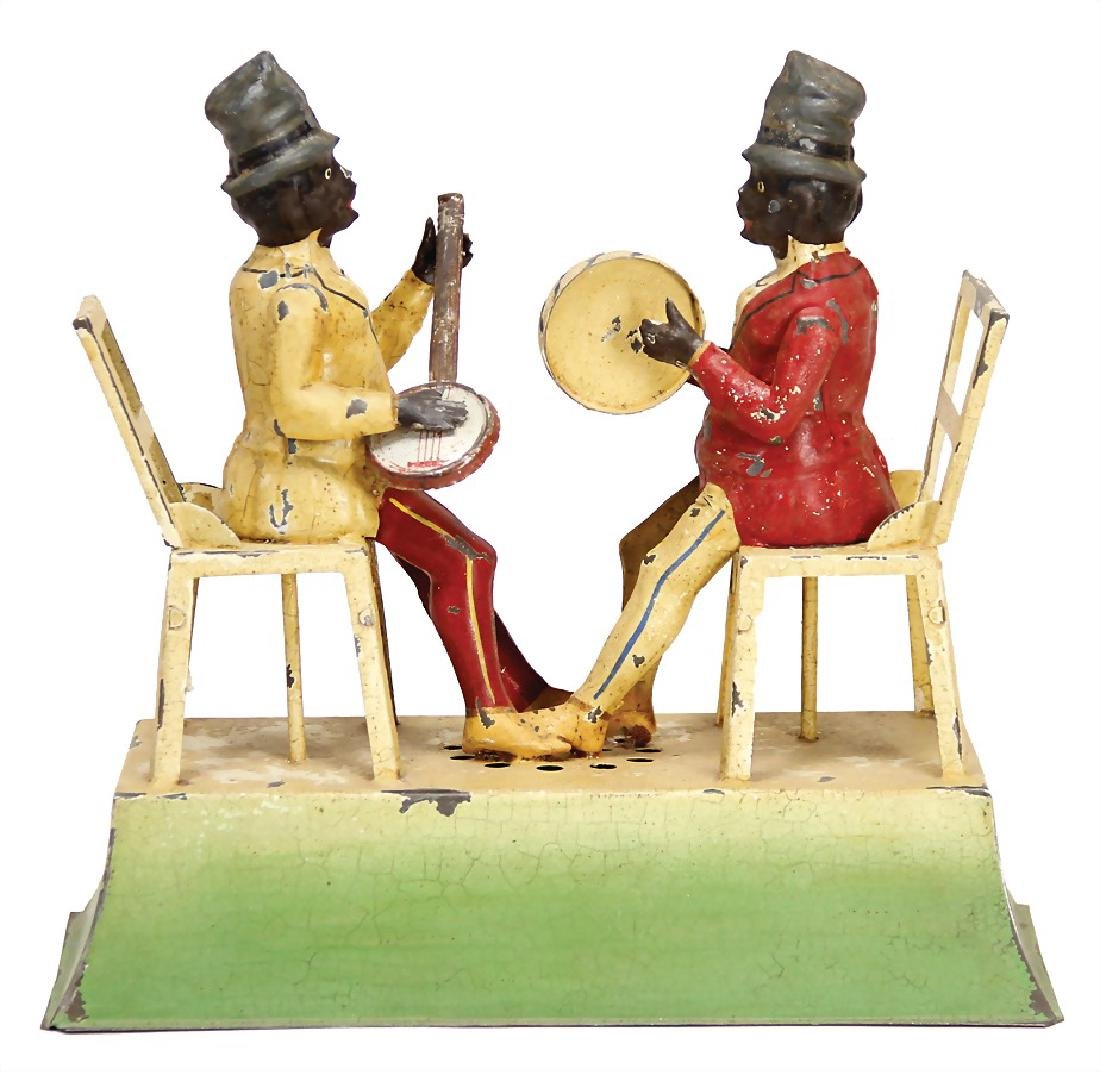 probably GÜNTHERMANN 2 colored musicians sitting