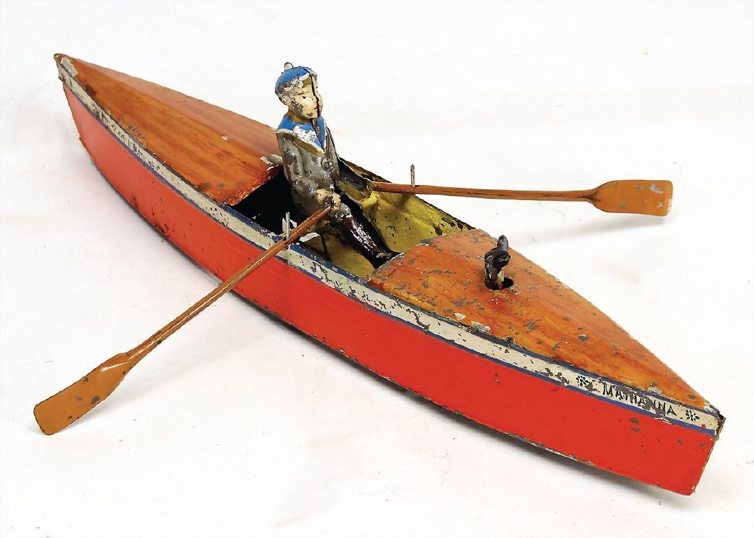 canoe, bottom runner, Marianna, sheet metal,