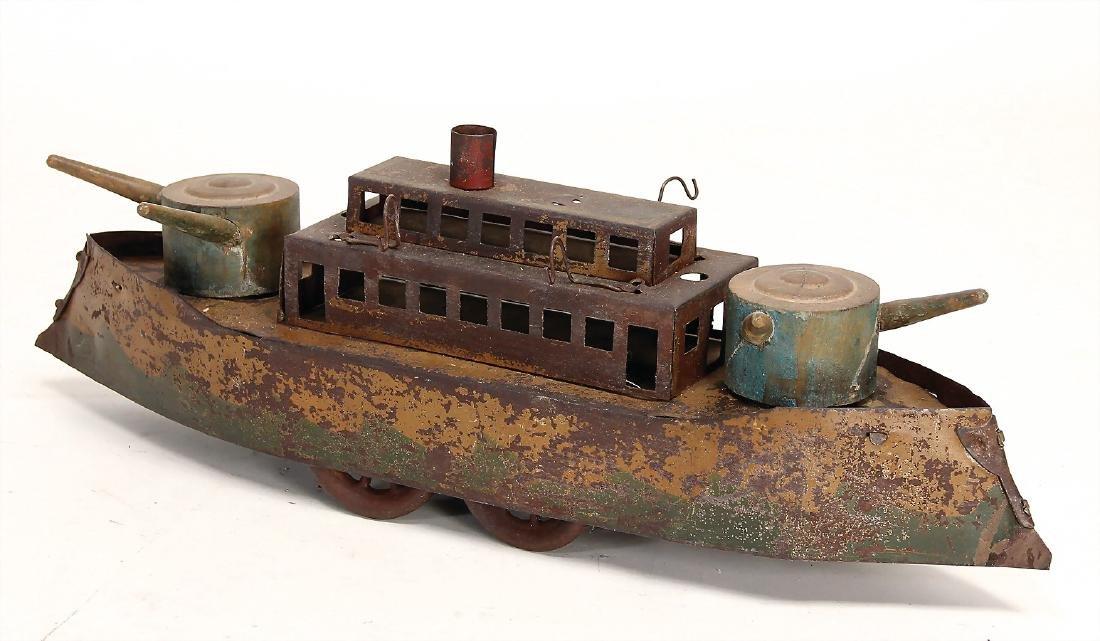 gunboat, sheet metal and wooden parts, bottom runner,