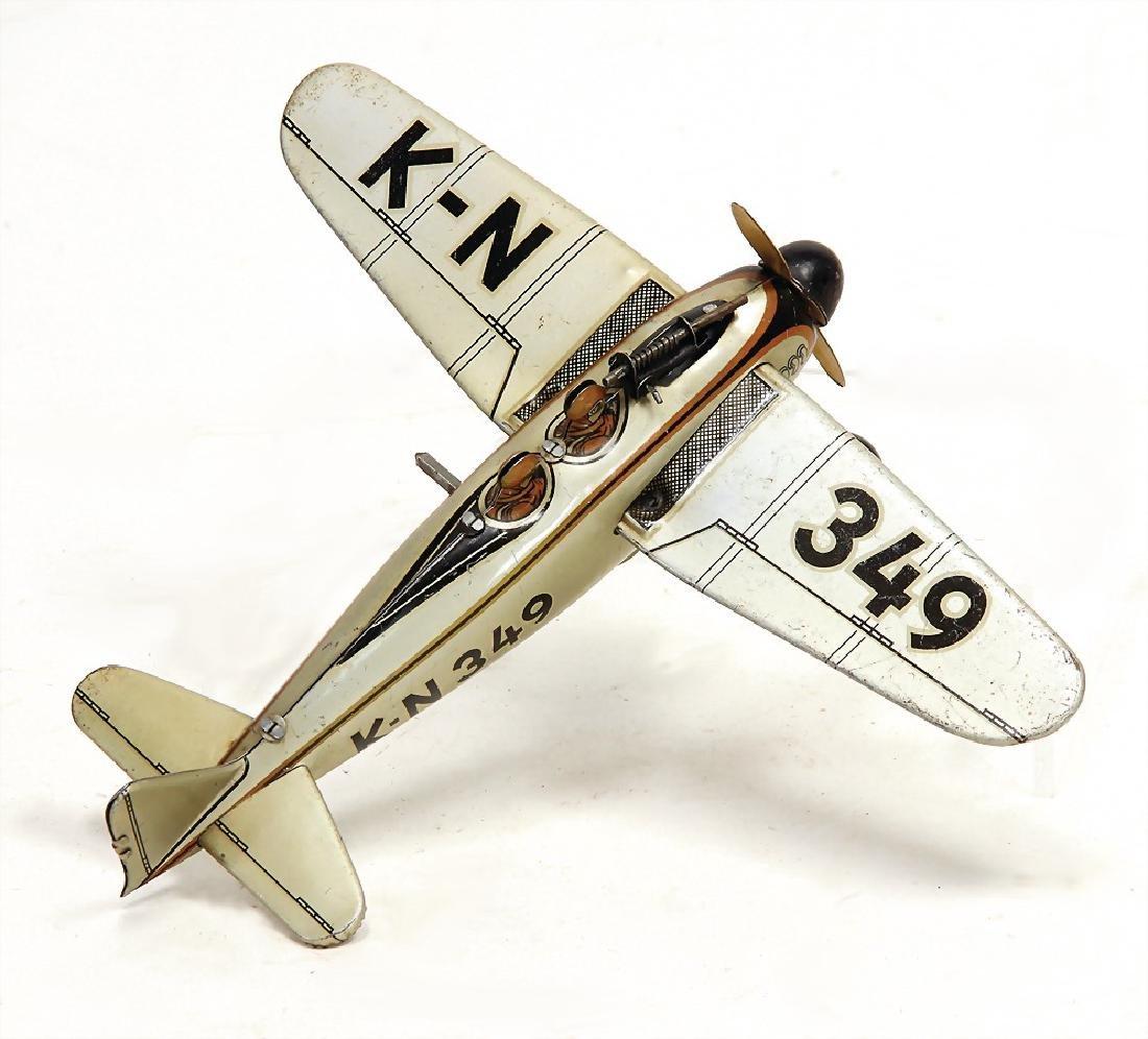 KN 349, plane, sheet metal, lithographed, German