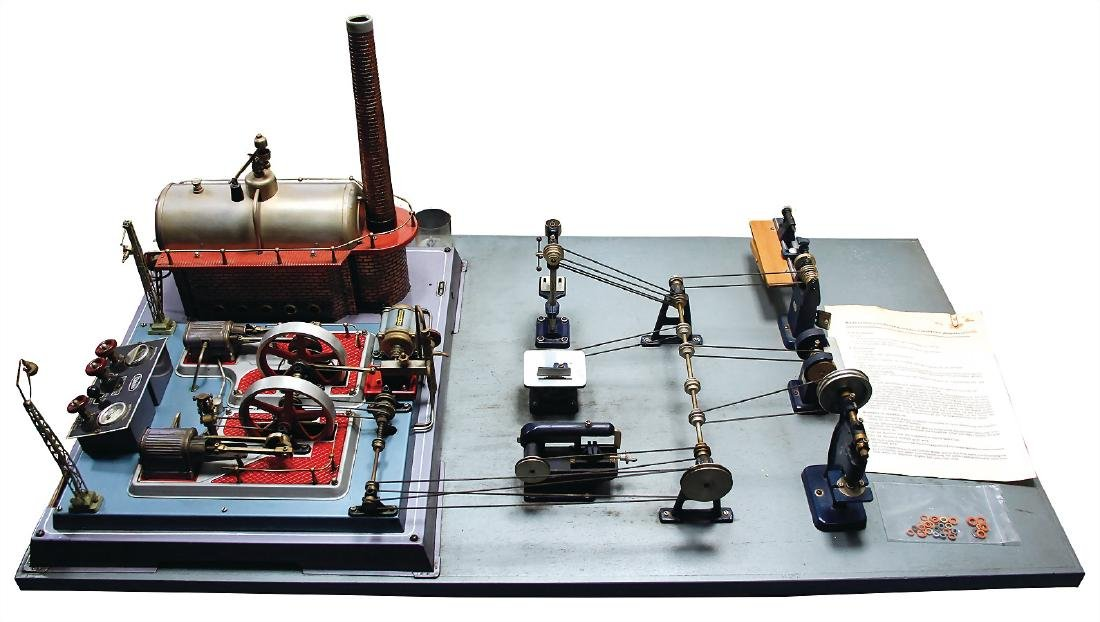 WILESCO big steam engine, 2 cylinders, with manometer