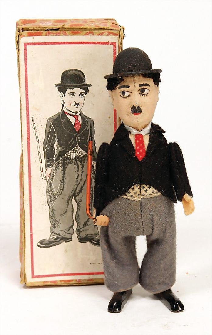 SCHUCO dancer, Charlie Chaplin, sheet metal, 16.5 cm,