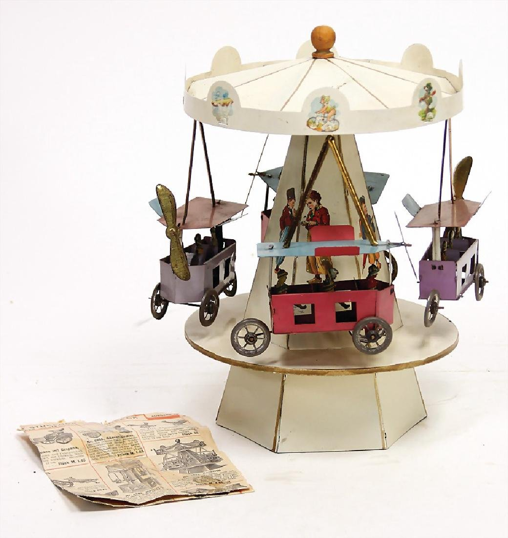 flyer-roundabout, clock mechanism drive with music,