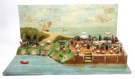 PFEIFFER diorama, width: 70 cm, height: 32 cm, fishing