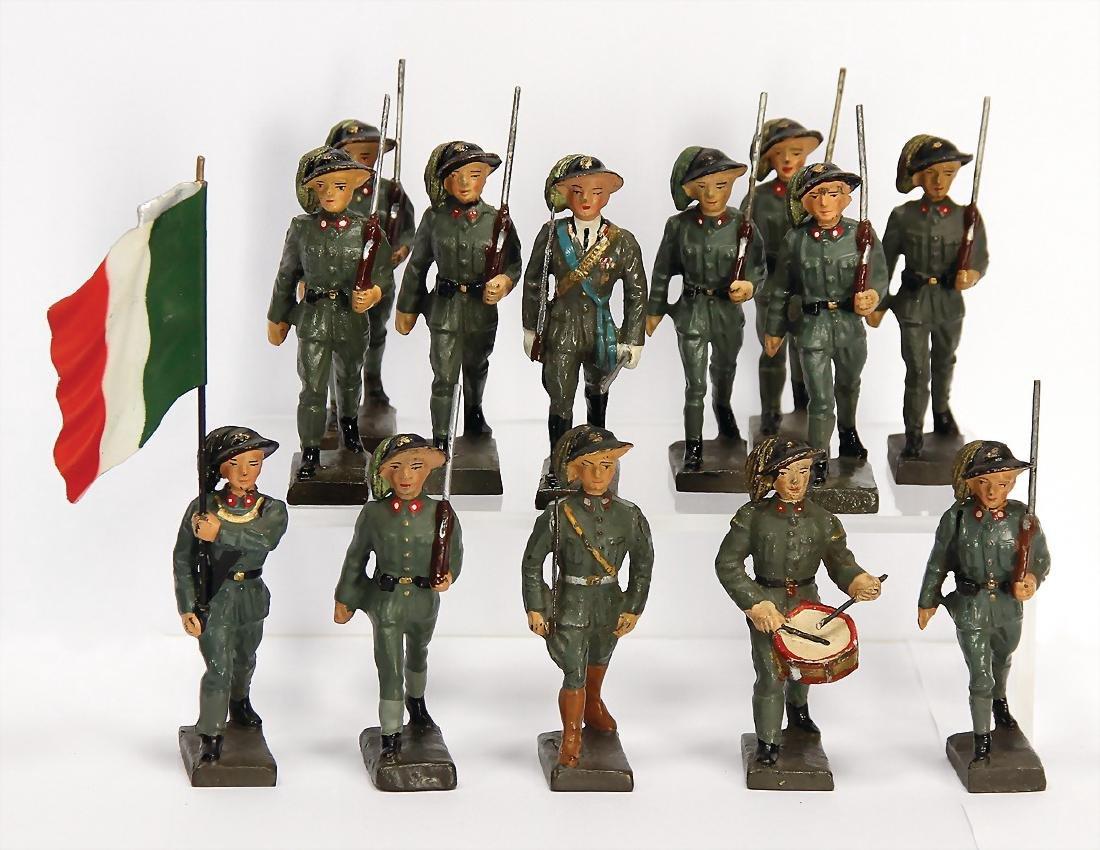 LINEOL 12 pieces, mass, Second World War, Italian,