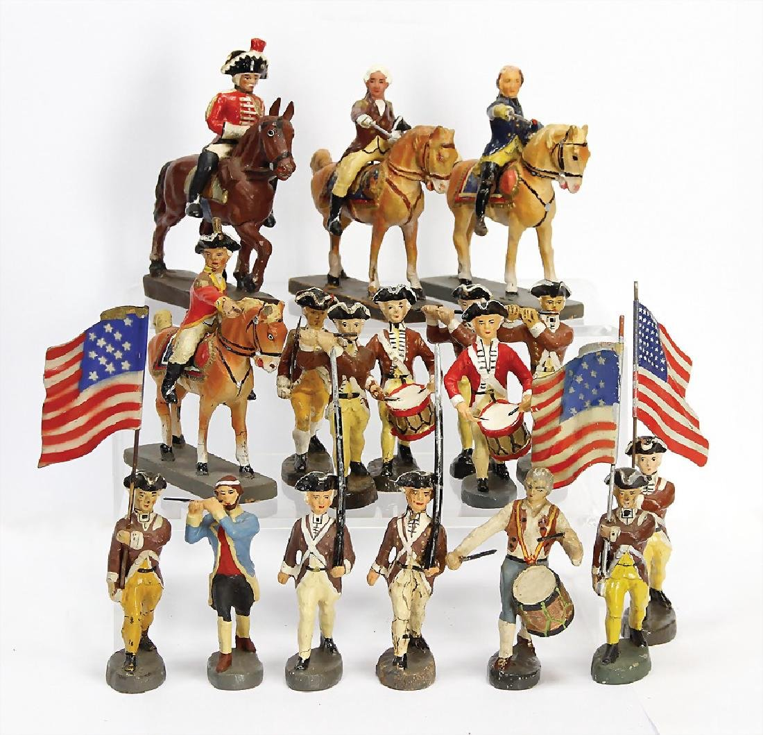 ELASTOLIN and others 7.5 cm, mass, American war of