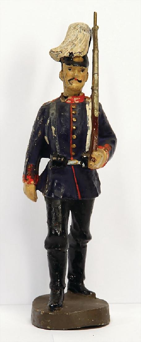 LINEOL First World War, figure, marching, with parade