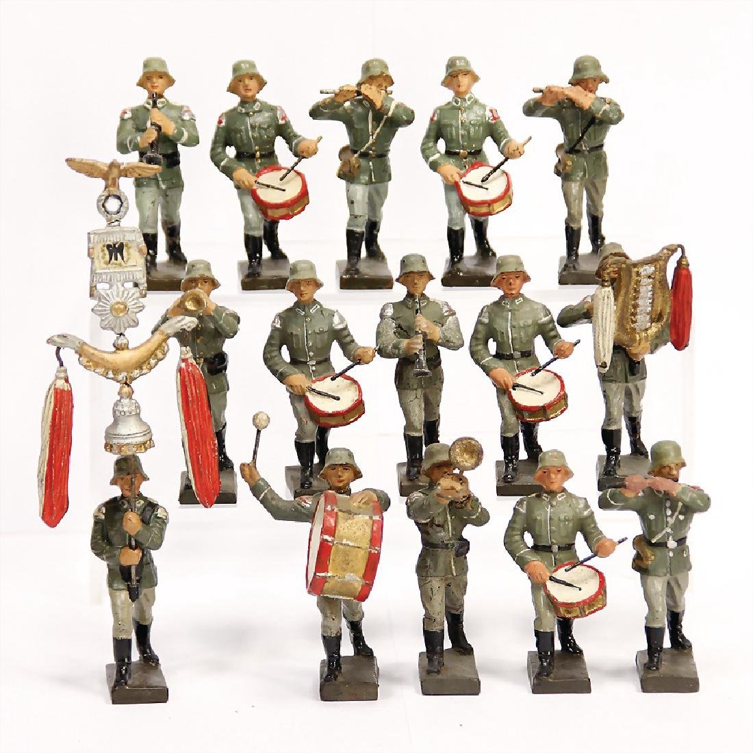 LINEOL Second World War, mass, 7/7.5 cm, musicians, 1