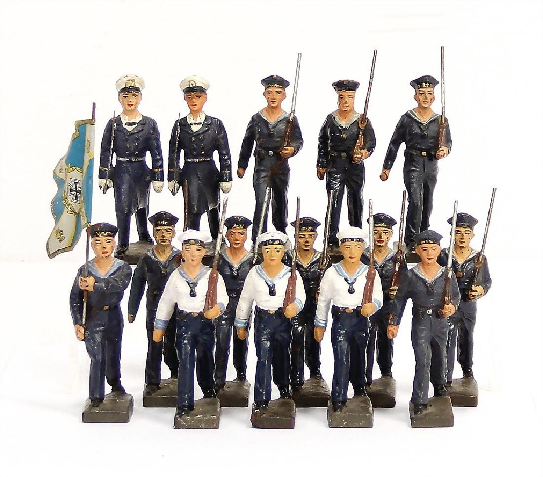 LINEOL 14 pieces, 7.5 cm, mass, navy, marching, 1