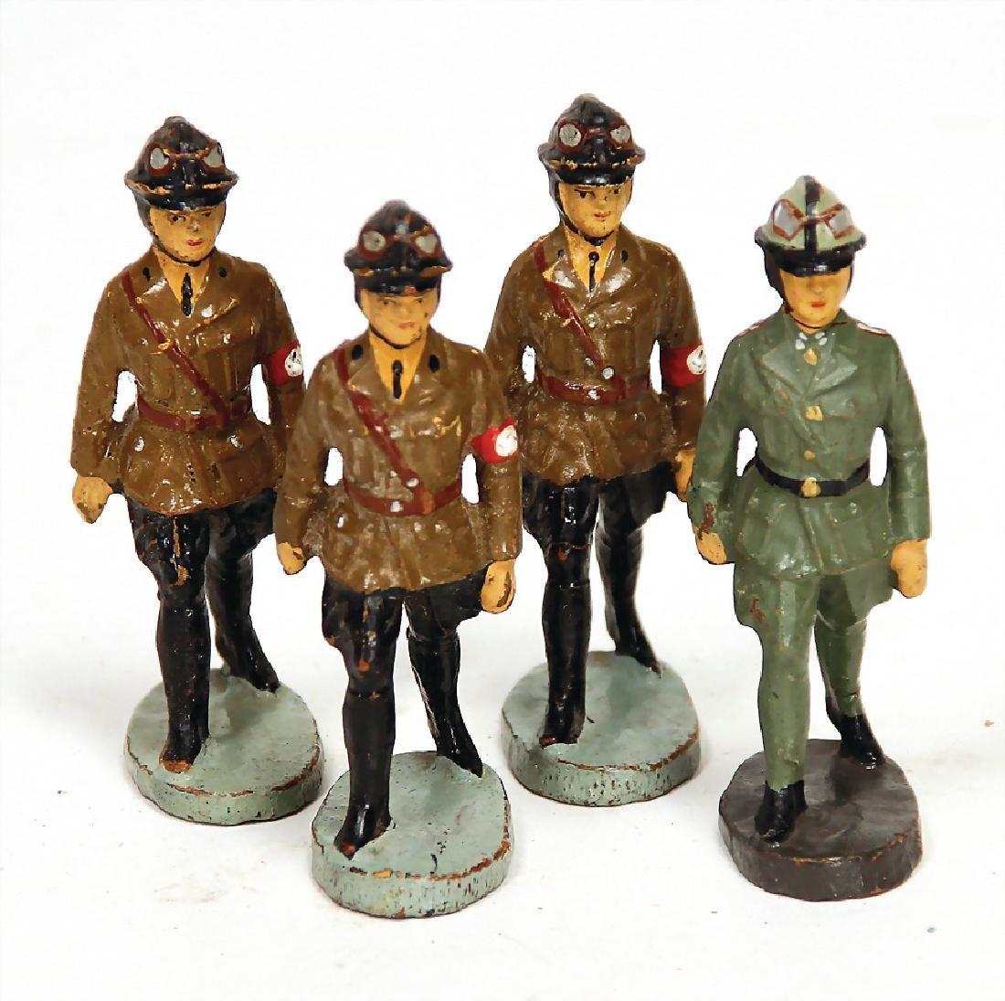 ELASTOLIN 4 pieces, mass,  Second World War, aviator