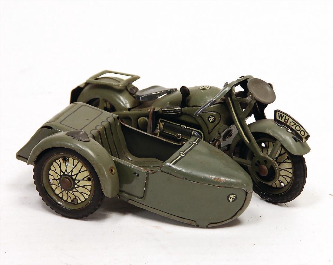 TIPP & CO. motorbike with sidecar, sheet metal,