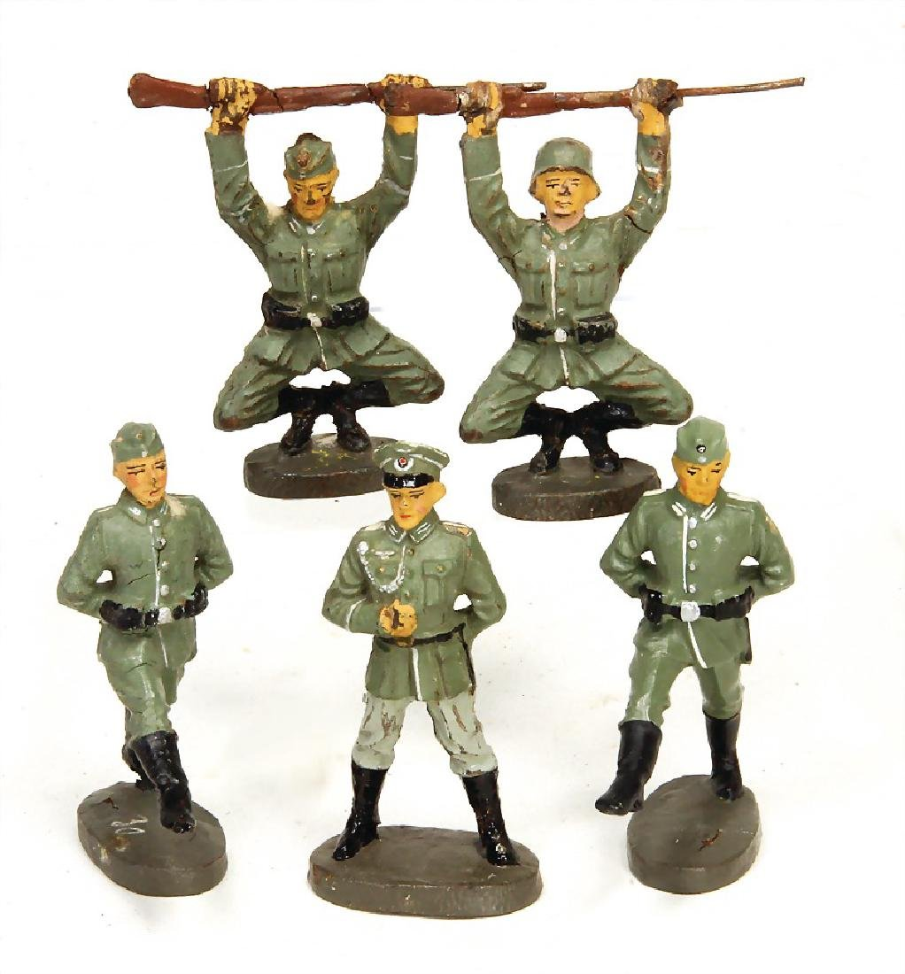 ELASTOLIN 5 pieces, Second World War, mass, 7.5 cm, 2x