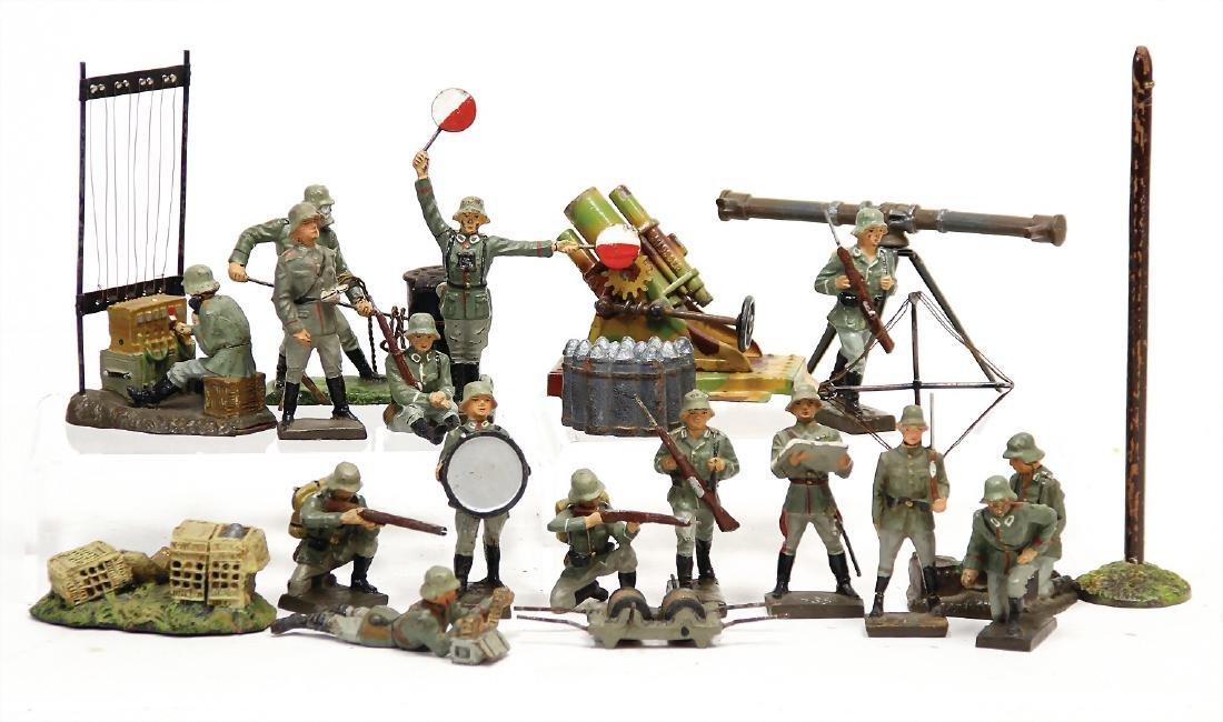 mostly LINEOL 18 pieces, mass,  Second World War,