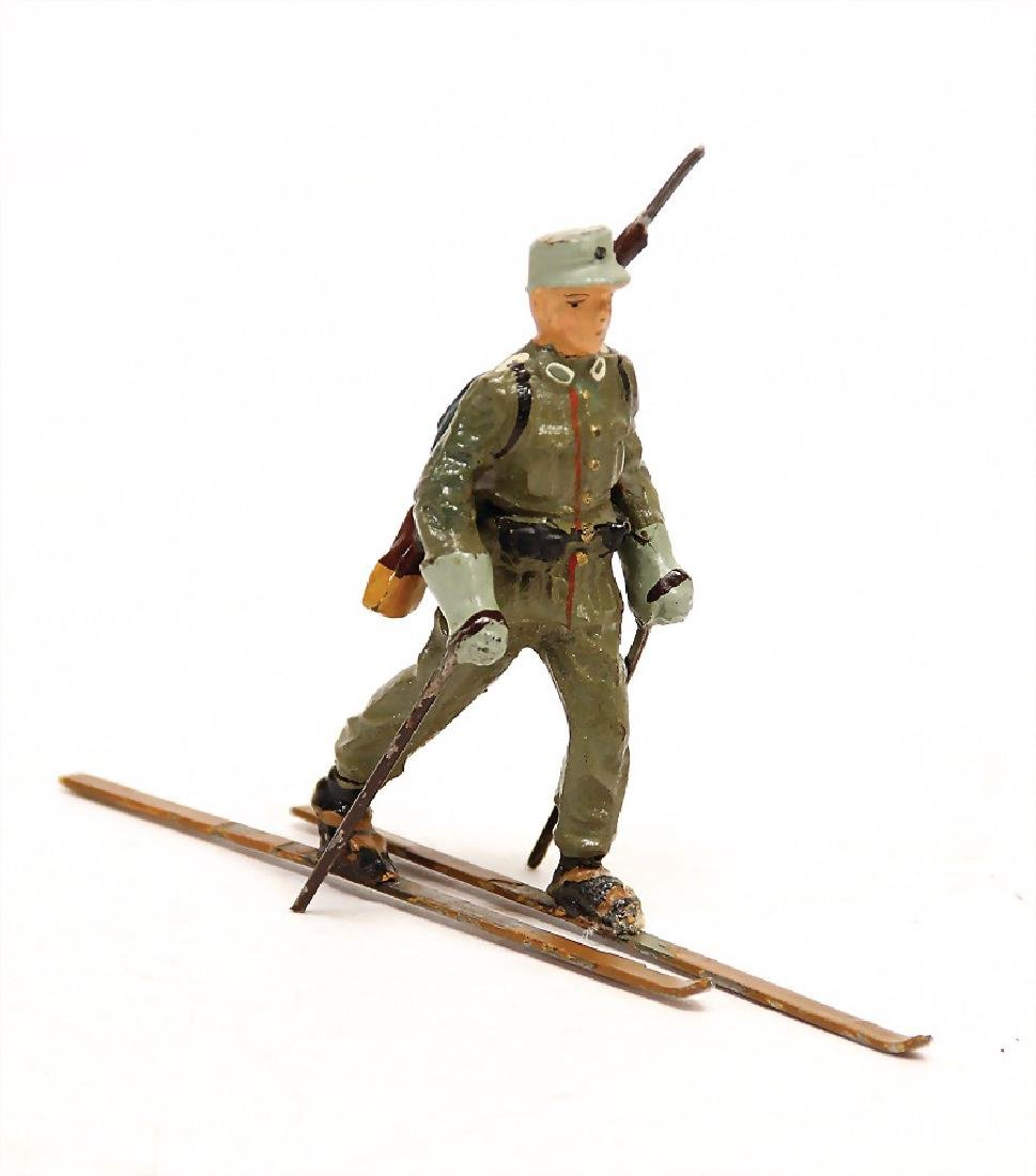 LINEOL skier, mass, 7.5 cm, Second World War, condition
