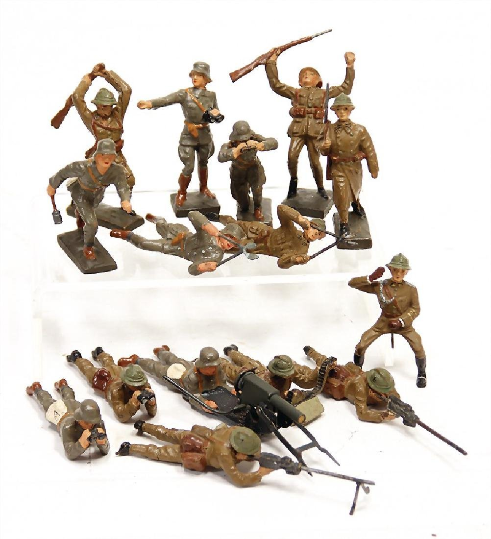 LINEOL 14 pieces, mass 7.5 cm, fighting, mostly