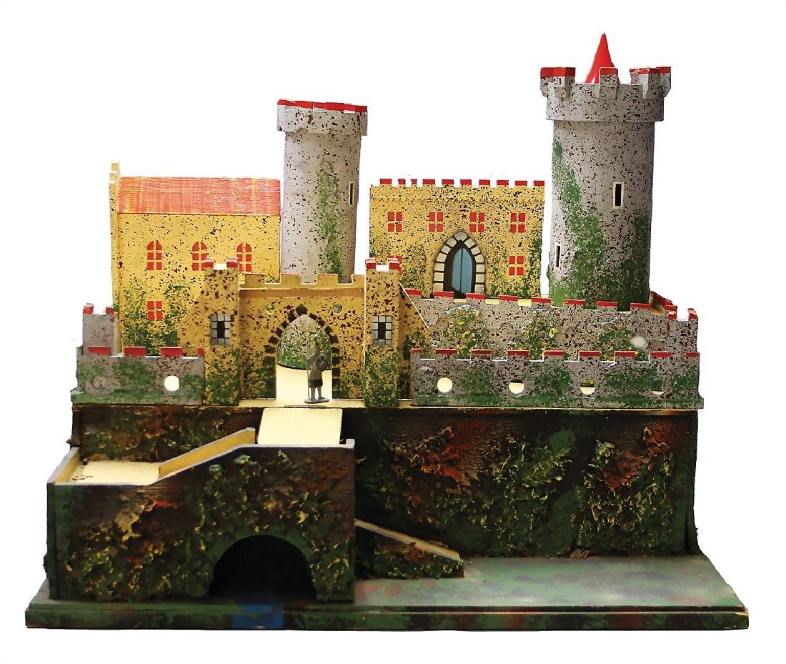 castle construction, wood, width: 65 cm, probably from