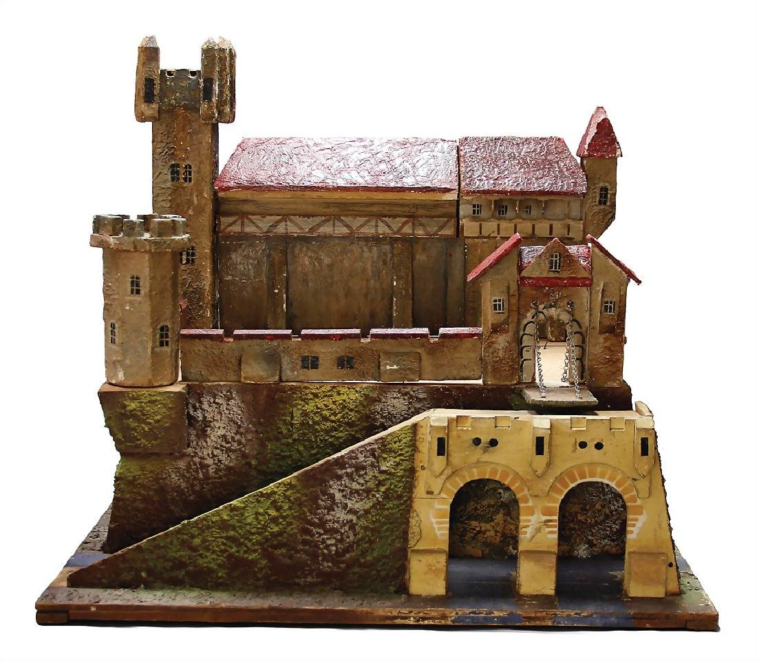 castle construction wood, mass, width: 63 cm, partially
