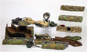 treasure chest airraid shelters trenches some tanks