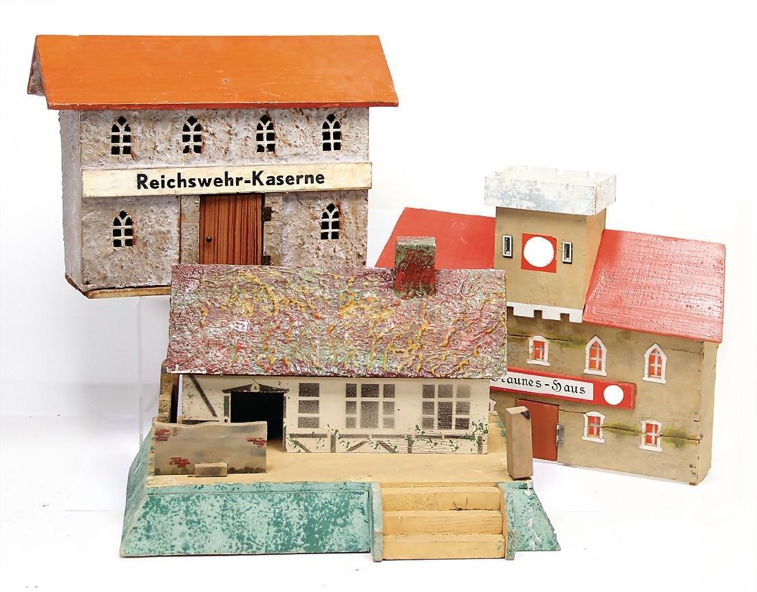 3 building, wood, Reichswehr barrack, brown house,