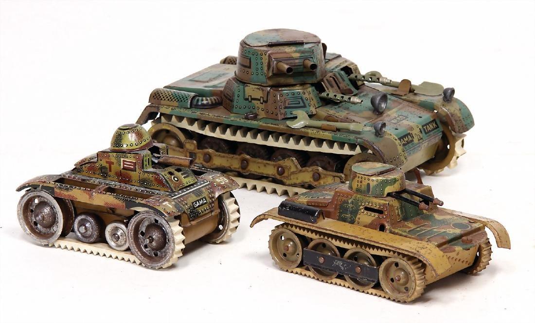 GAMMA tank, 18.5 cm, mimicry, clock mechanism is