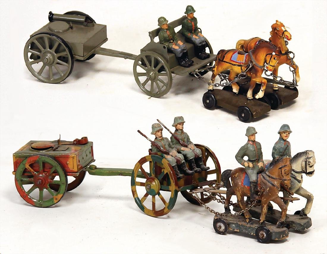 horse and cart, small series with field kitchen, 27 cm,