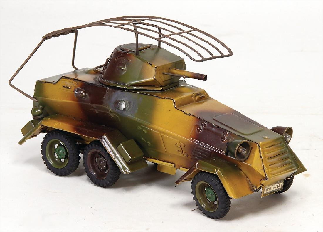 LINEOL armored scout car, sheet metal, mimicry, 25 cm,