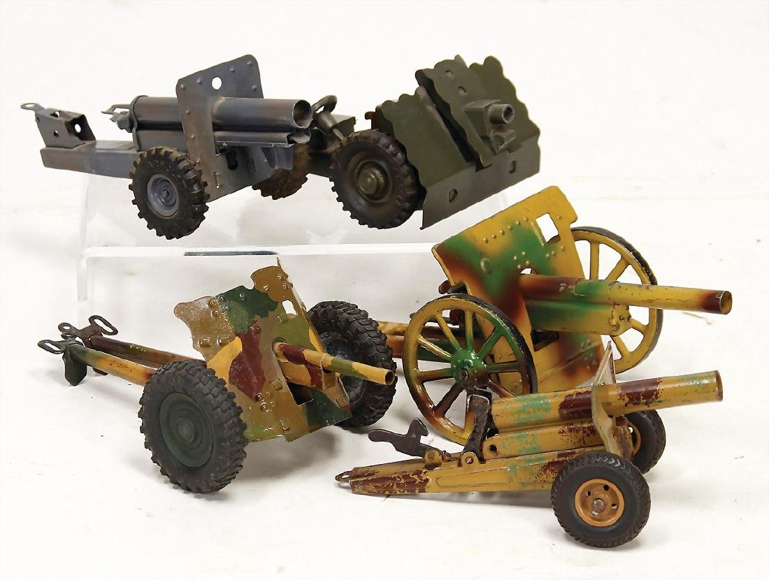 mixed lot 4 artillery, heavy tin