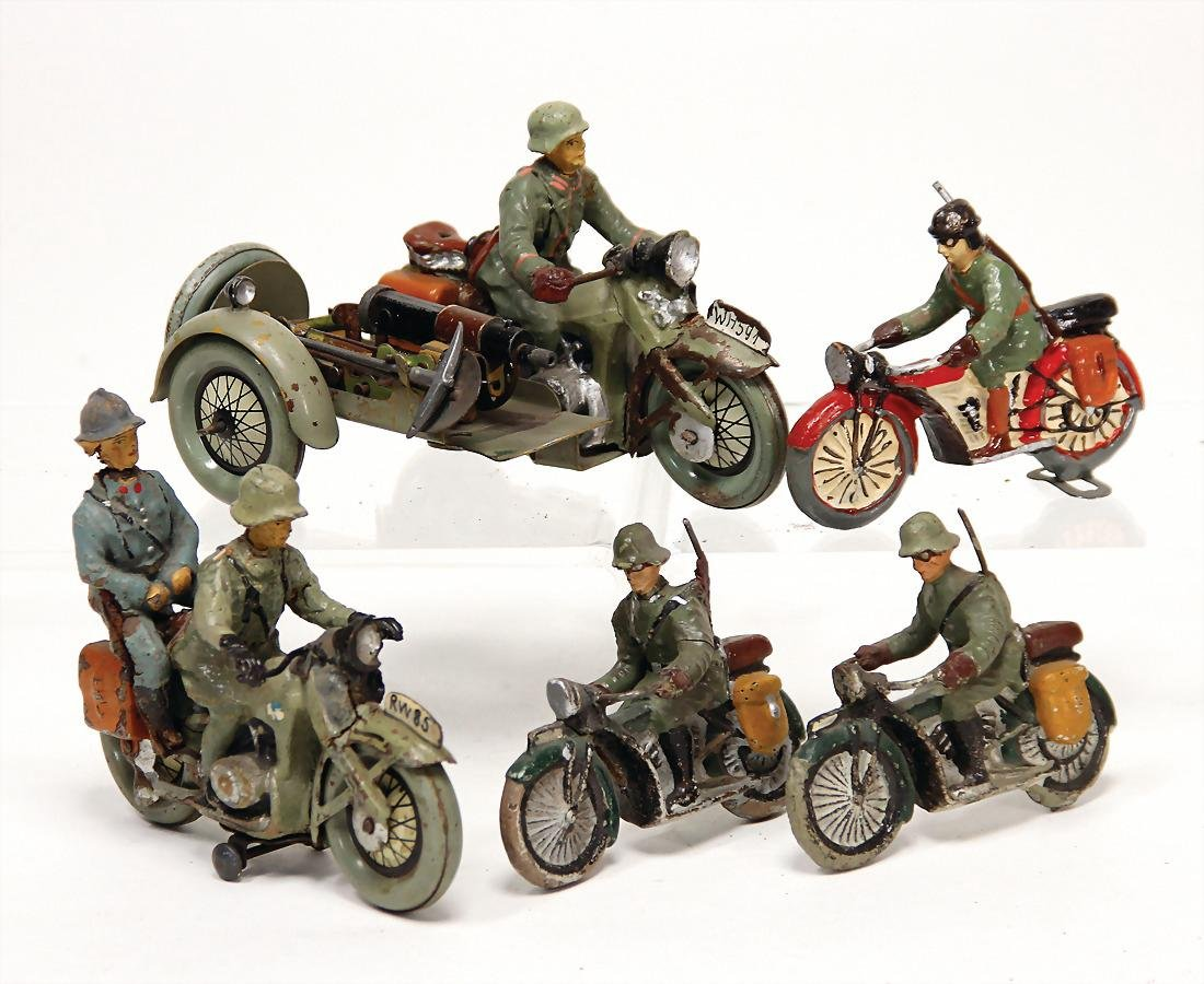 mixed lot with 4 pieces, motorbikes, mass, Second World