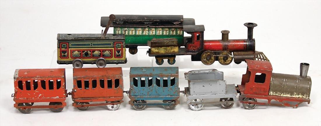 treasure chest, tender locomotive 2b, with cowcatcher,