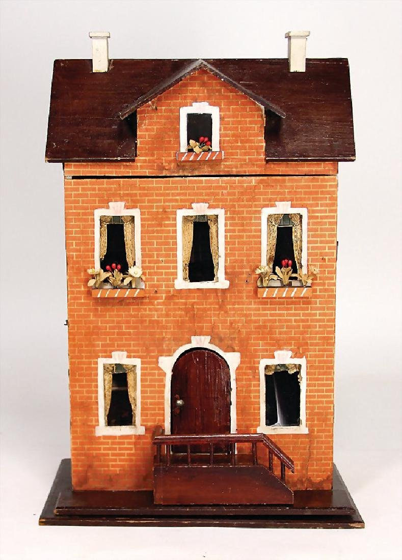 small dollhouse, height: 49 cm, width: 29.5 cm, front