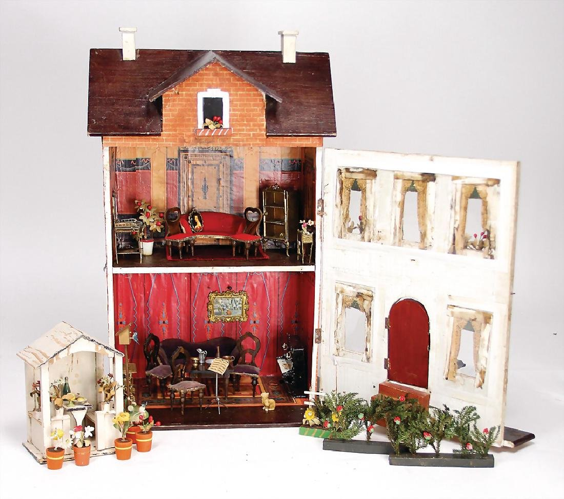 small dollhouse, height: 49 cm, width: 29.5 cm, front - 2