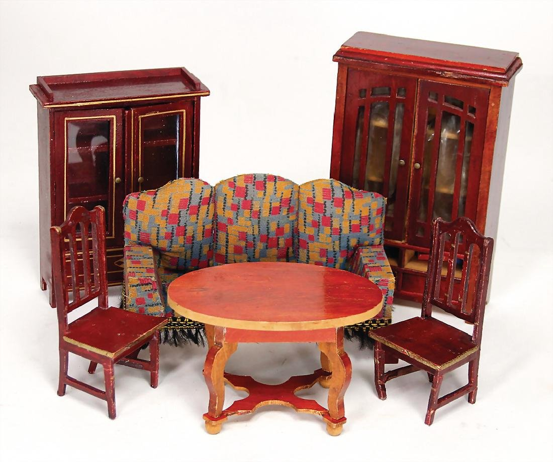 GOTTSCHALK dollhouse furniture program, red painted